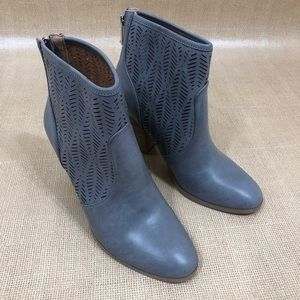 Report Size 8 Slate Gray Perforated Ankle Booties